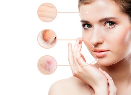 Konzept der Hautpflege Standard-Bild