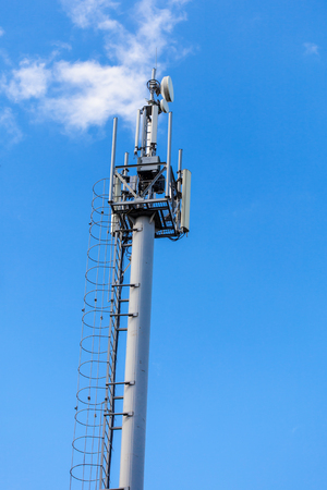 Cellular network mobile telephony radio tower