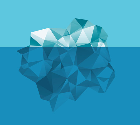 iceberg in the water Illustration