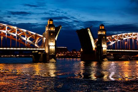 Bolsheohtinskiy bridge in Saint-Petersburg