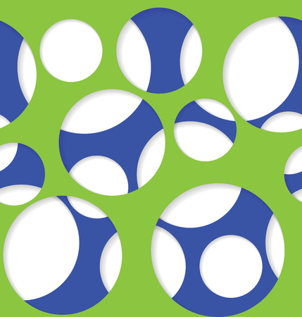 Round seamless pattern of random circles with transparent background. Vector illustration.