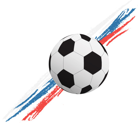 Vector illustration of a soccer ball