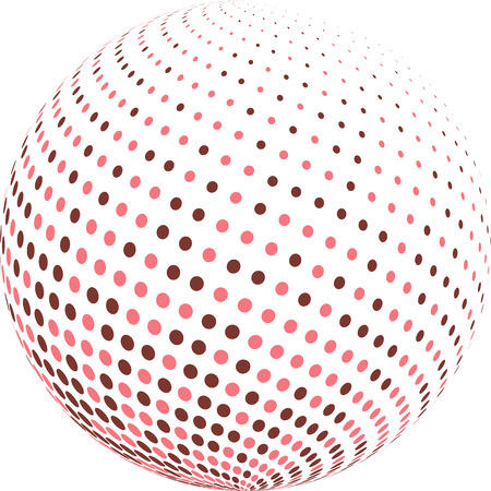 Colorful globe with halftone.