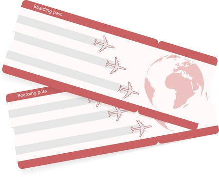 Vector template of boarding pass tickets.