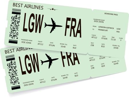 Vector pattern of green boarding pass