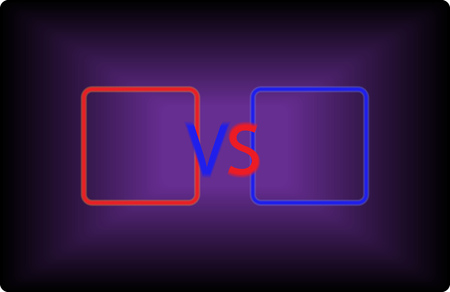 Versus screen with red and blue colors. Vector illustration Illustration