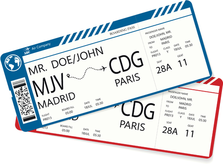 Vetor pattern of a boarding pass ticket. Иллюстрация