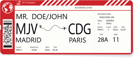 Redector pattern of a boarding pass ticket.