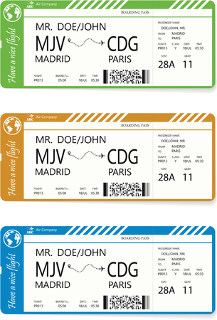 Vector pattern of a boarding pass ticket. Illustration