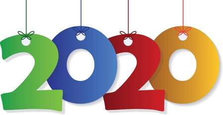 Happy New Year 2020 text design.. Banque d'images - 129656676