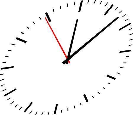 Uhrbild auf weißem Hintergrund Vektorgrafik