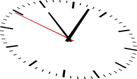 Image de l'horloge sur fond blanc Vecteurs