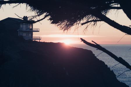 Sun setting on the horizon near Ben Jones Bridge Viewpoint