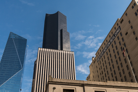 The Columbia Center Tower, The Mark Tower and Dexter Norton Building in Seattle, Washington, USA.