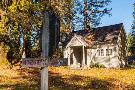 Old farmhouse on Baker Lake Road near Baker Lake in North Cascades National Park.