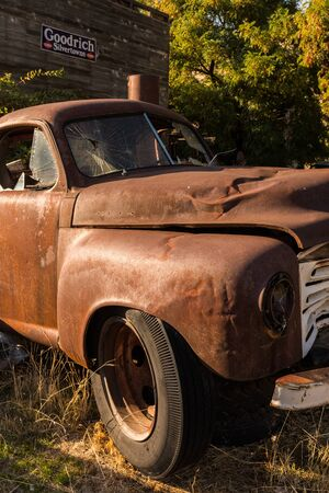 An old and abandoned pickup in Maryhill