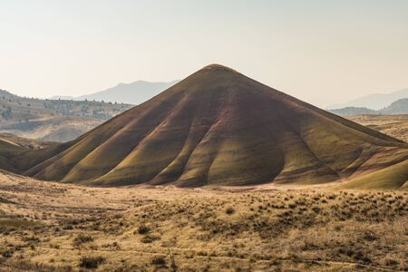 Views of the arid and colorful landscape of Painted Hills