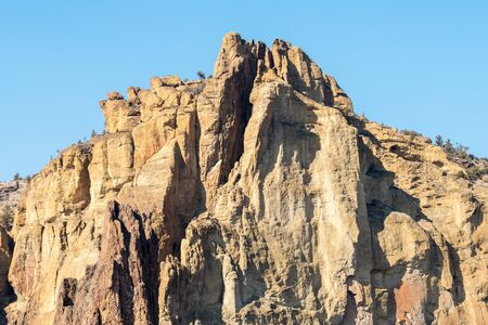 View of one of the peaks of Smith Rock, Terrebonne