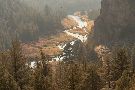 Sunset views of the Crooked River at Smith Rock State Park