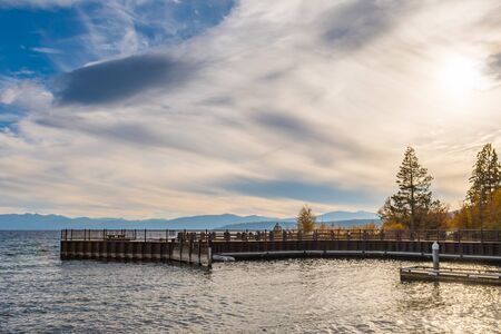Sunset over the Tahoe Vista Recreation Area and Boat Launch