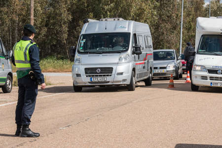 Border control between Spain and Portugal becuase of the COVID19.