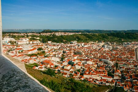 View of the interior of Nazare from the viewpoint of O Sitio