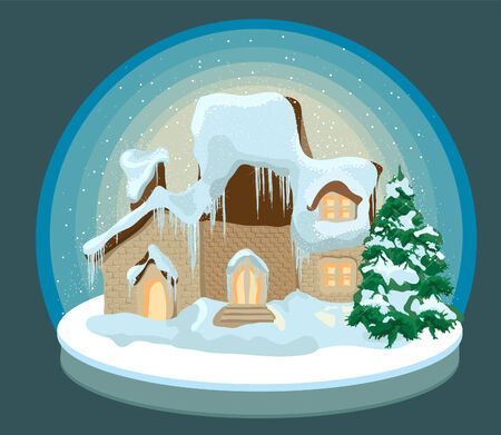 Vectors for Christmas cards is not open circuits Illustration