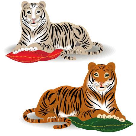 Bengal and Amur tiger Stock Vector - 6042745