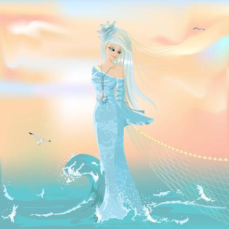 water girl Illustration