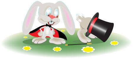 rabbit magician Illustration