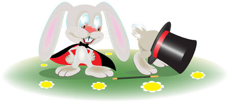 rabbit magician Stock Vector - 6460584