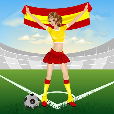 Spanish soccer fan Stock Vector - 7125564