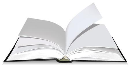 Open book Stock Vector - 7167075