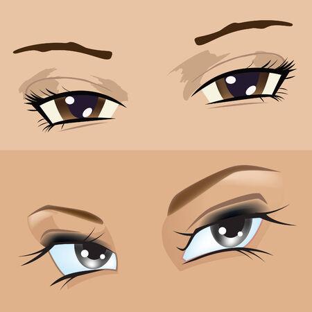 The eyes girl Stock Illustratie