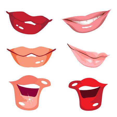 Set women lips Illustration