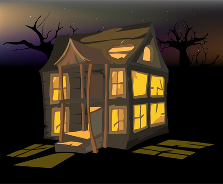 Halloween old house Vector