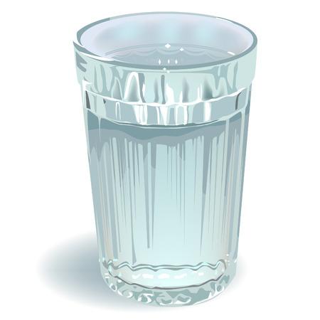 glas water Stock Illustratie