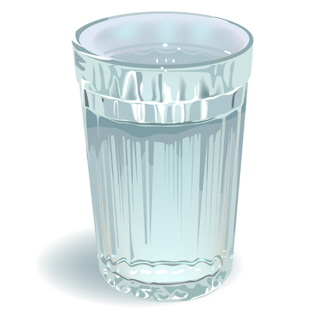 glass of water Ilustrace