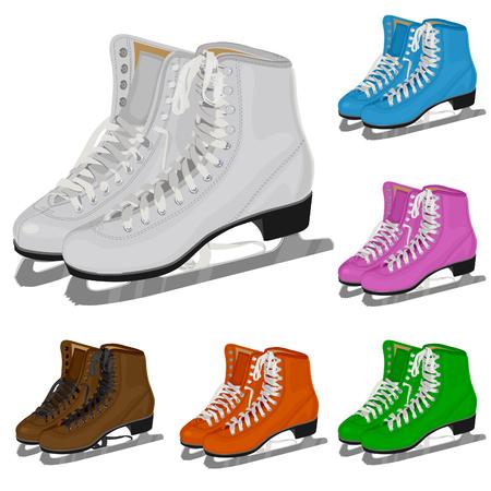 De set damesfiguur schaats Stockfoto - 8091842