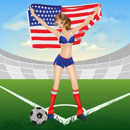 The girl american soccer fan