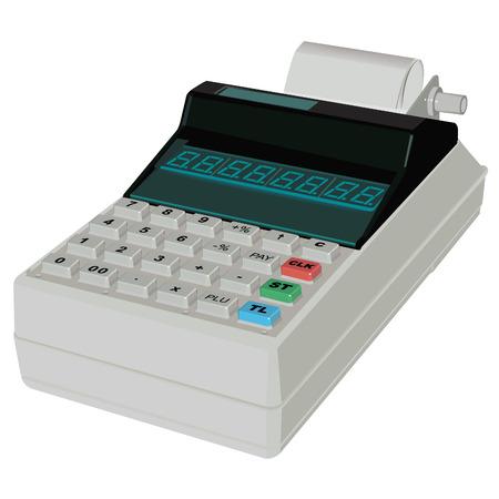 Mobile Cash Register. Illustration in vector format EPS.