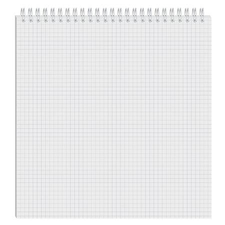 cuaderno espiral: El Bloc de notas abierta. Papel en blanco