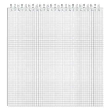 The open notepad. Blank paper Illustration