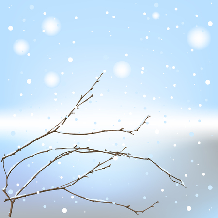 겨울 배경 스레드