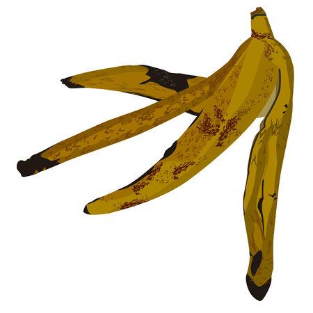 banana peel: The peel banana on white background