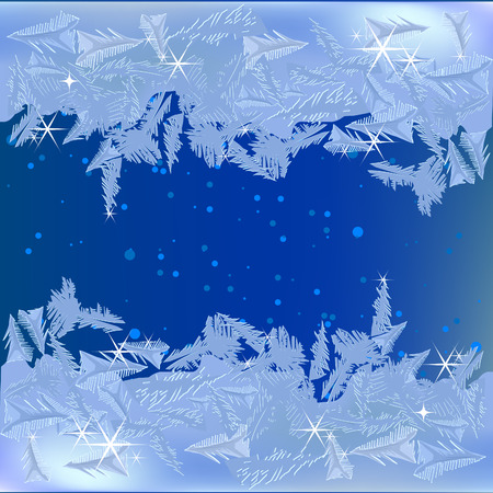 Frozen frost on the window Stock Vector - 8375174