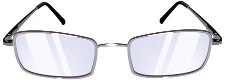 eyewear: Womens Glasses. Isolated on white background