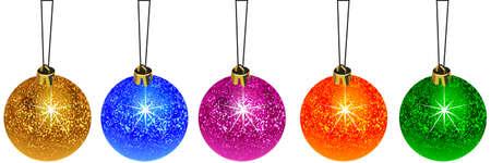 Set decoration christmas ball
