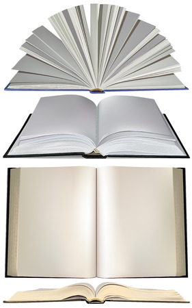 libros abiertos: Conjunto de libro abierto