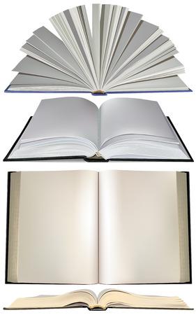 Imposta libro aperto Vettoriali